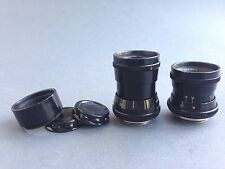 Industar-50 3,5/50 and RO-51 2.8/20mm lens 16mm movie USSR black FOR REPAIR