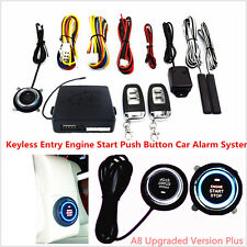 10pc Car Keyless Entry Engine Start Push Button Remote Starter Auto Alarm System