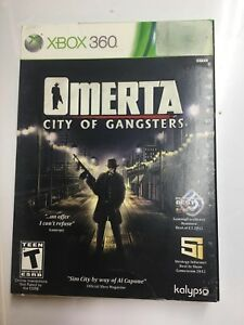 5 x Omerta City of Gangsters Microsoft XBOX 360, 2013 BRAND NEW FACTORY SEALED