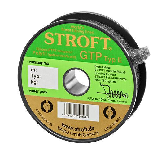 Angelschnur STROFT GTP 250m Typ E Wassergrau 100m 250m GTP 500m 1000m Geflochtene Schnur 2802b0