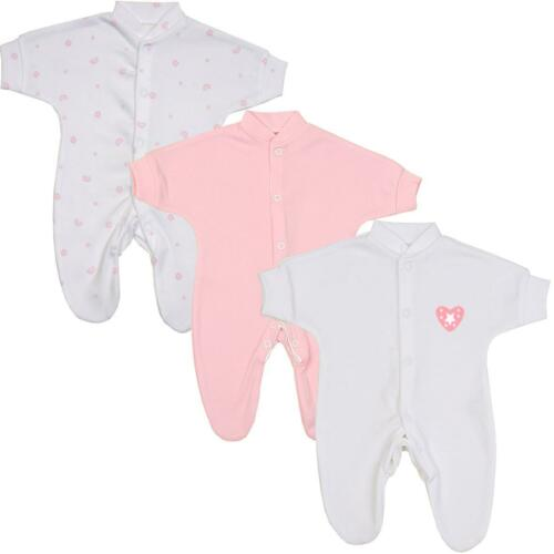 Babyprem Prematuro Preemie Bebé Niña Ropa 3 Paquete Pijama Body Durmiente