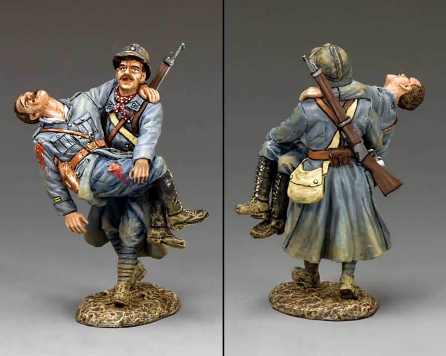 KING AND COUNTRY WW1 Les Deux Heros Poilu & Officer FW185