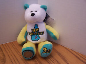 New-Hampshire-Bear-Limited-Edition-State-Bear-With-Quarter-amp-With-Tags