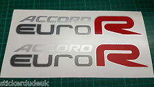 Honda Accord Euro R CL7 CL9 OEM Red x 2 Side panel sticker decals - DARK CARS