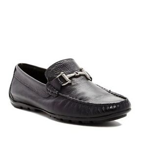 aebf9e2a4c2 Details about STEVE MADDEN LEATHER ANSELL BIT MOC DRIVER DRIVING SLIP ON  LOAFER BLACK LEATHER