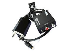 3.5mm Toslink SPDIF Coax Optical Digital to RCA Analog Audio Converter Adapter