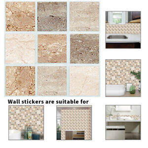 Floor Wall Tiles 18pcs Kitchen Tile Stickers Bathroom Mosaic Sticker Selfadhesive Home Decor Uk Home Furniture Diy Quatrok Com Br