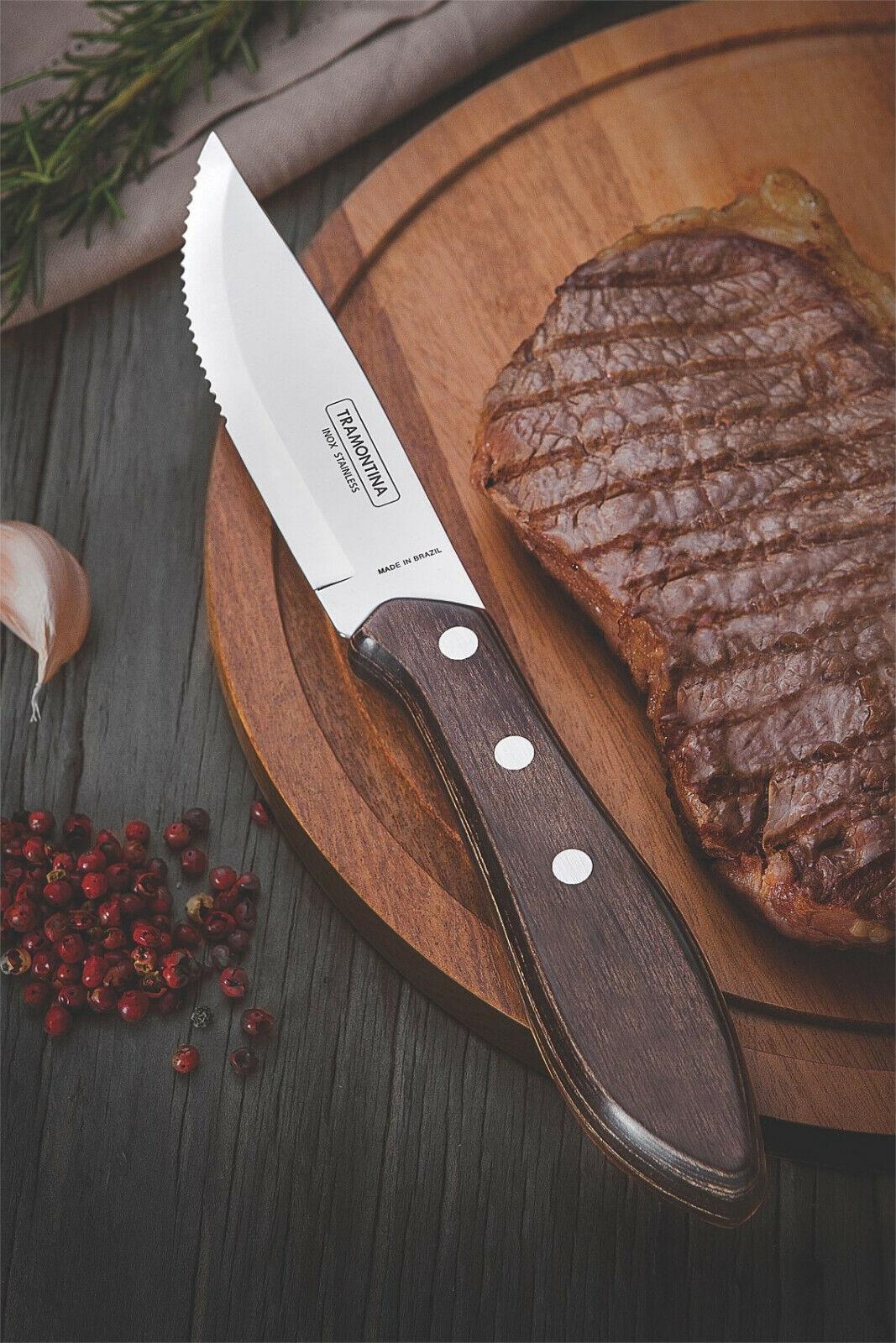 Tramontina Churrasco Tableware 8 Pcs.Steak Pcs.Steak Pcs.Steak Knife & Fork Cutlery Set JUMBO FSC d4a2b2