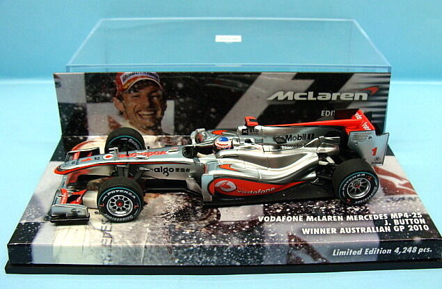 MINICHAMPS   F1 MAC LAREN MERCEDES MP4 25 WINNER AUSTRALIAN GP J. BUTTON 2010