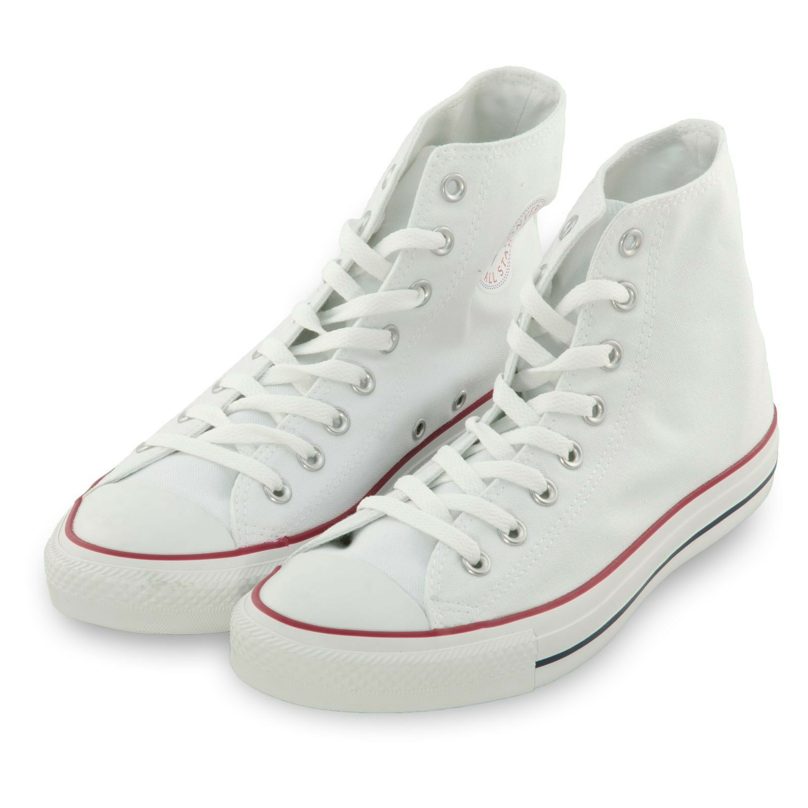 Converse Donna Shoes Chuck Taylor All Star HiTop Flat Canvas  Optic White