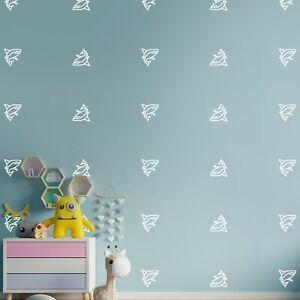 "Sharks Animals Wall Decor Stickers Pattern Art Decals 90 Pcs 3x3"" Decor HE37"