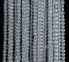 3MM ROCK CRYSTAL CLEAR QUARTZ GEMSTONE ROUND 3MM LOOSE BEADS 15.5""