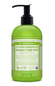 Dr-Bronner-s-Organique-4-in-1-SUCRE-Limette-amp-Citronnelle-POMPE-SAVON-356ml