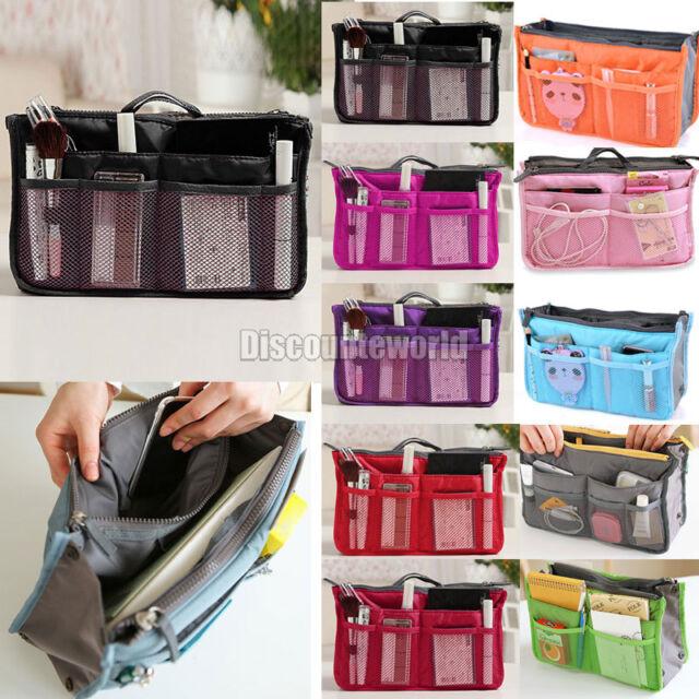 Women Organiser Organizer Bag Purse Travel Insert Handbag Pouch Large Liner Tidy