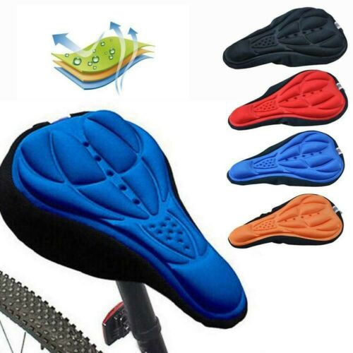 Bike Bicycle 3D Gel Silicone Saddle Comfort Seat Cover Pad Padded Soft Cushion