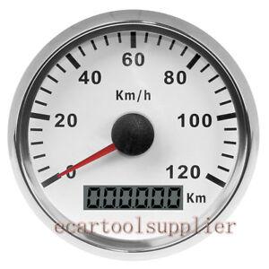 Auto GPS Compteur de Vitesse Inoxydable Imperméable Jauge 120KM/H 12V/24V Bateau