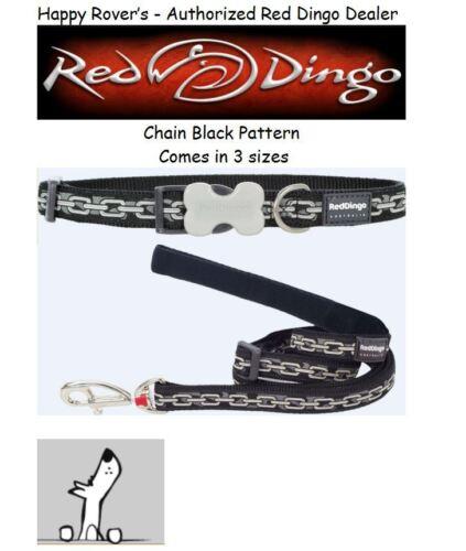 Chain Black Premium Red Dingo Dog Collars /& Leashes Pick Size