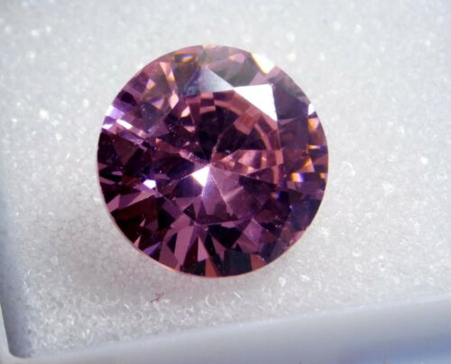 a 10.00Cts. Natural translucent Round Cut loose Cambodian pink Zircon
