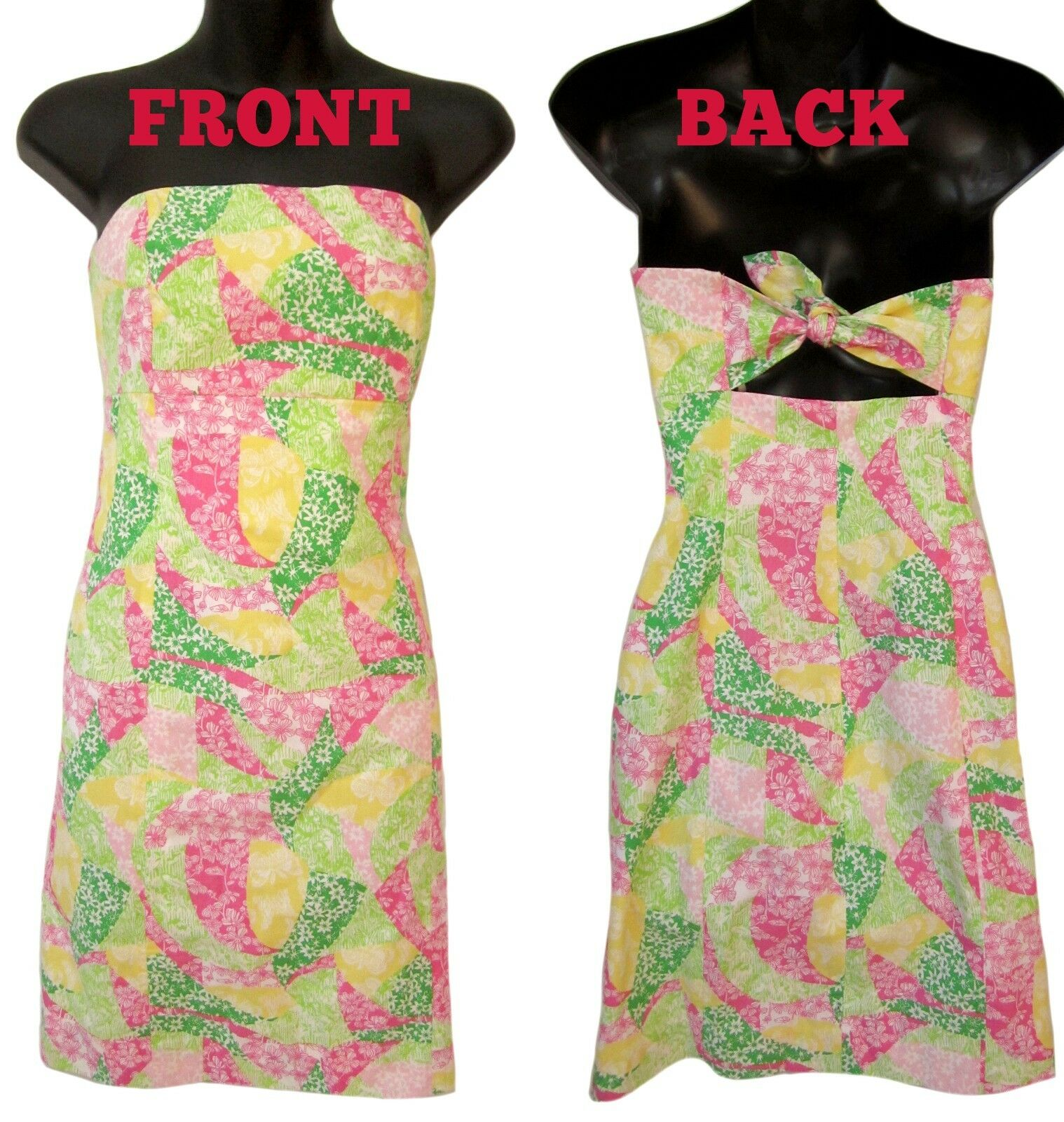 LILLY PULITZER 100% COTTON Strapless Dress, size 6