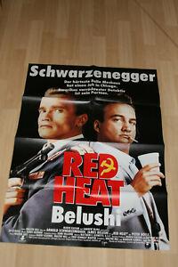 Red Heat mit Arnold Schwarzenegger und James Belushi - Filmplakat