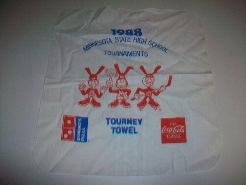 1988 Minnesota State High School Tourney Towel Dominoes Avoid the Noid Coca Cola