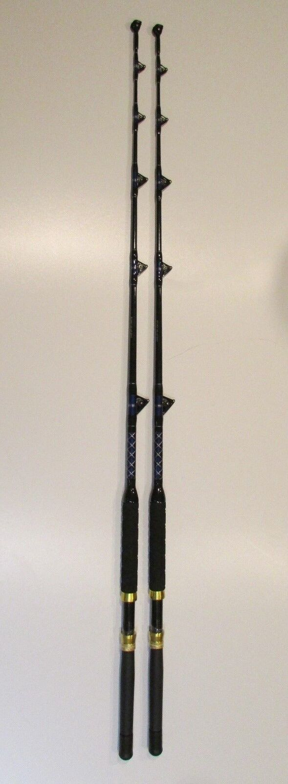XCALIBER MARINE PAIR OF SALTWATER TROLLING ROD ROLLER GUIDES 50-80lb