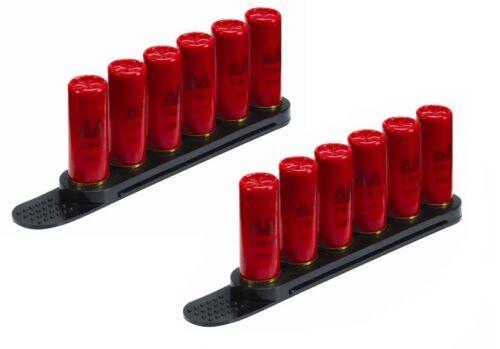2 Pack BLACK Tuff Products Speed Quick Strip 12 GA Gauge Loader 6 Round
