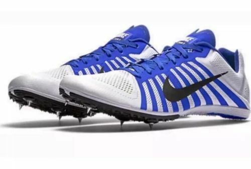 NIKE Zoom D Men's Track Field Spikes Distance Running shoes White bluee Size 10