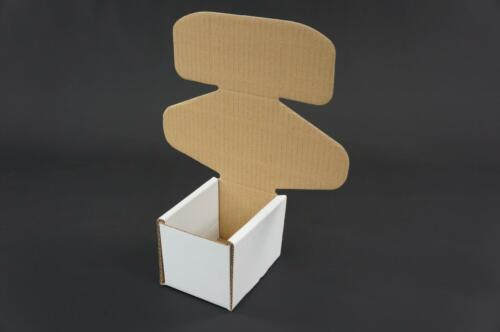50 White Postal Cardboard Boxes Mailing Shipping Cartons Small Parcel Mail AP13
