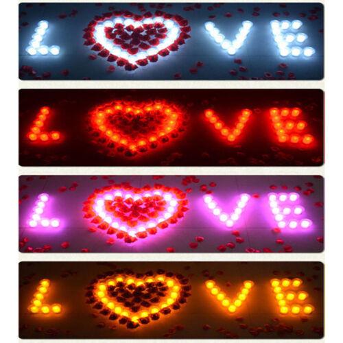 12 x couleur changeante thé lumière batterie led bougies sans flamme événements noël