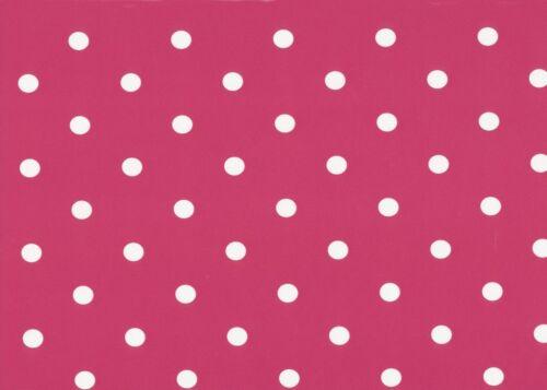 45 cm x 200 cm lámina Película adhesiva-muebles lámina Pink puntos-Dekor lámina dots