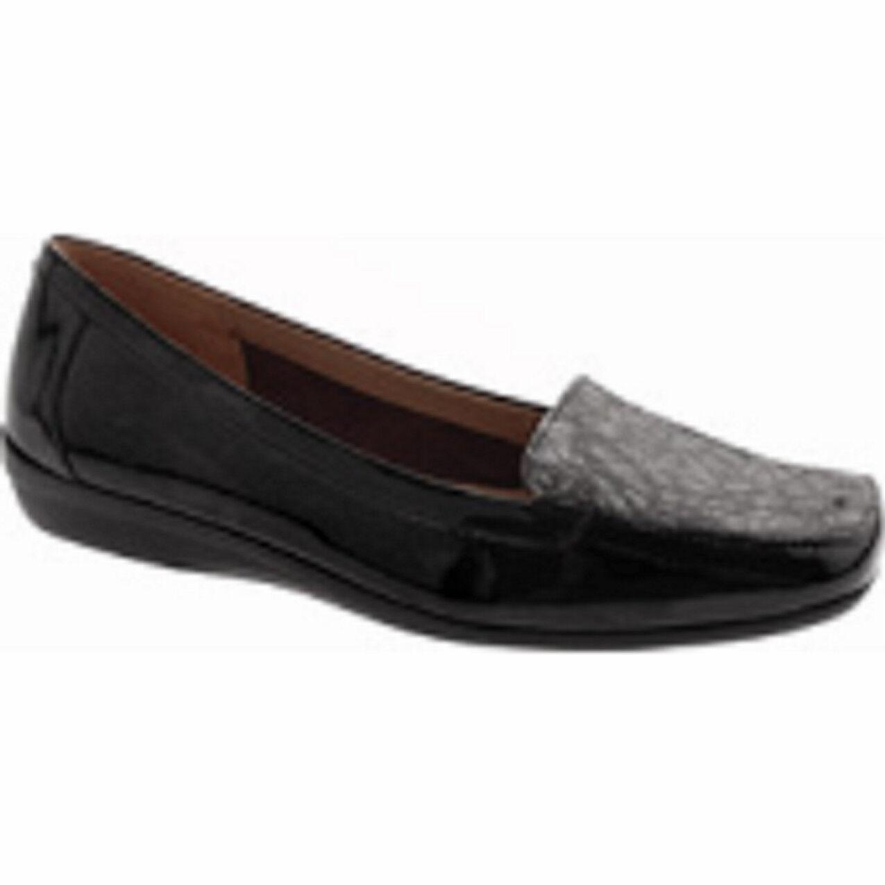 Easy Spirit Jadee loafer black leather & croco sz 12 Md NEW