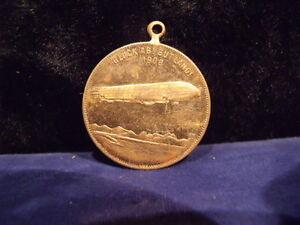 GRAF FERD. V. ZEPPELIN GEB. 1838 Messingmedaille 1908 28mm # 81776