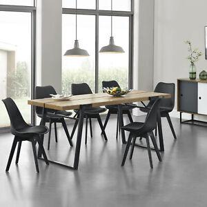Encasa Esstisch 6 Stühle Küchentisch Esszimmertisch Essgruppe
