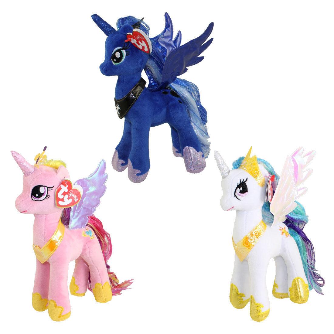 TY Beanie Babies - My Little Pony- SET of 3 PRINCESS (Cadance, Luna & Celestia)