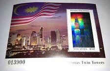 1999 Malaysia Petronas Twin Towers Building KLCC Mini-Sheet Hologram Stamp Mint