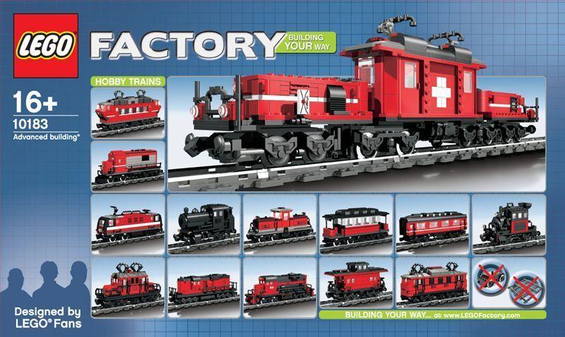 LEGO 10183 Factory svizzero locomotiva coccodrillo 1080 parti da 2007 MISB