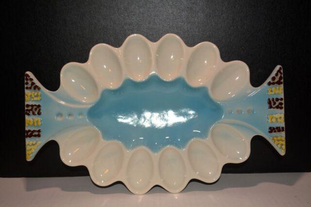 Vintage Retro Deviled Egg Serving Platter Howard Kron RAG Kron Registered Rare