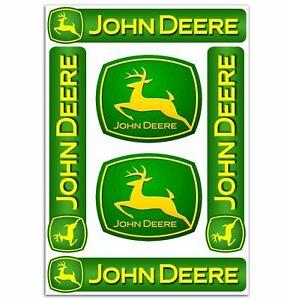 Set-6-PVC-Vinyle-Autocollants-John-Deere-Tracteur-Agricole-Stickers-Voiture-Auto