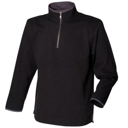 FRONT ROW Camicia Supersoft 1//4 Felpa con Cerniera