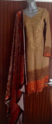 Stitched 10 Salwar Kameez 8 Taglia Designer Alkaram Outfit 5xF606