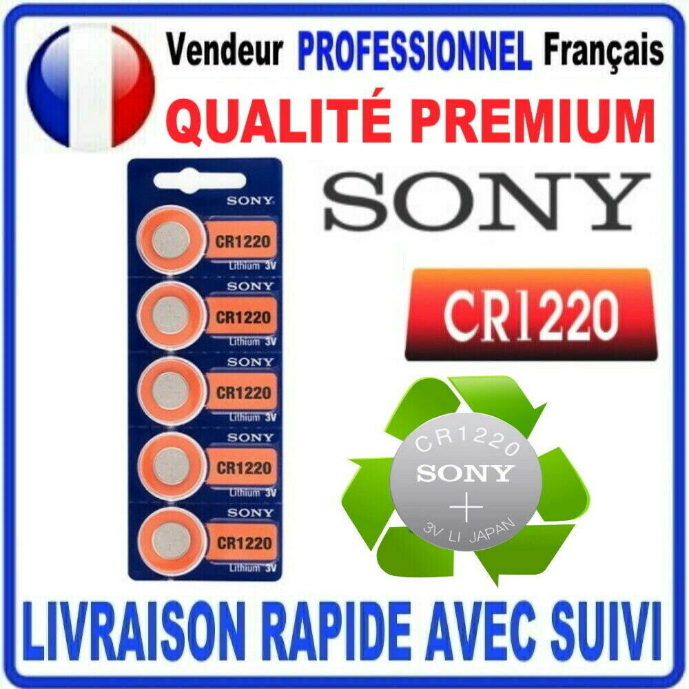 Cr1220 battery sony 3v lithium coin cell sony premium quality