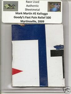 Mark-Martin-authentic-race-used-Goody-039-s-500-sheet-metal-Martinsville-2009