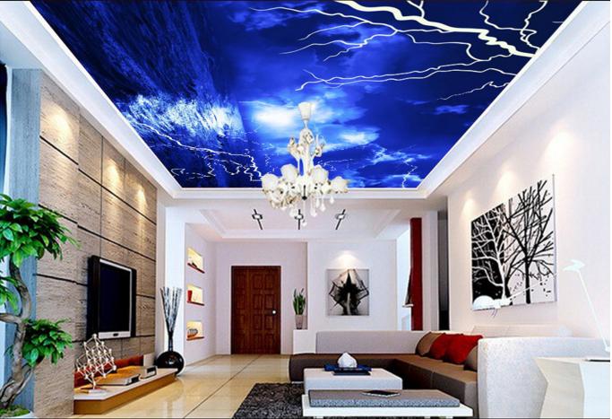 3D Lightning Cloud Sea 889 Wall Paper Wall Print Decal Wall Deco AJ WALLPAPER