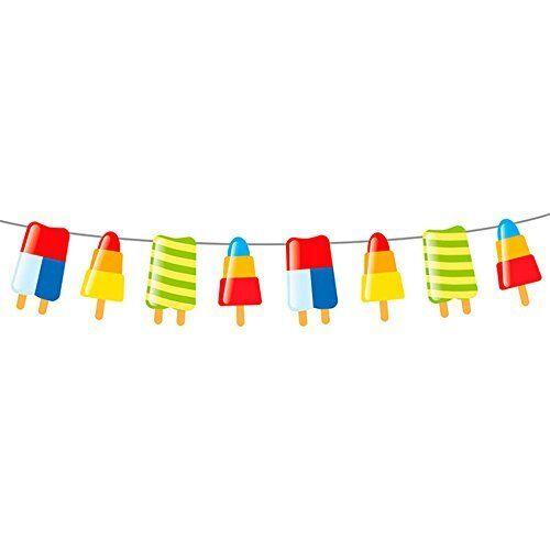 Sommer Sonne Party Eis Girlande Hawaii Party Raum Deko Dekoration Länge 10 m
