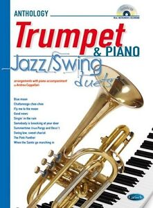 Jazz-Swing-Duets-for-Trumpet-amp-Piano-Trumpet-Piano-Sheet-Music-CD-Instrumental