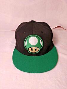 Nintendo Super Mario Brothers 1up Mushroom Hat Flex Fit One