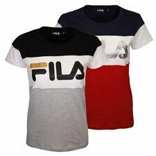 FILA Women's Dark Three Tone Logo S/S T-Shirt