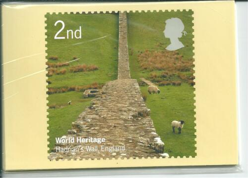 GB PHQ CARDS 2005 WORLD HERITAGE SITES BACK FDISHS COMP. SET USED