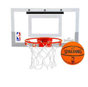 Spalding NBA Slam Jam Over-The-Door Mini Basketball Hoop play games